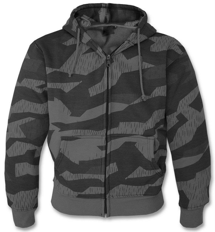 MIKINA S KAPUCŇOU SWEAT- JACKET - DARK SPLINTER