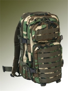 RUKSAK US ASSAULT PACK - WOODLAND 30L